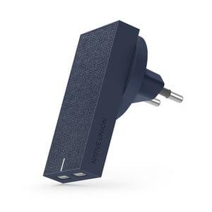 Tmavomodrá nabíjačka s 2 USB portami Native Union Smart Charger