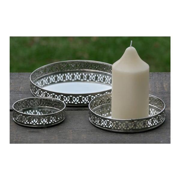 Sada 3 podnosov na sviečky Candle Plate