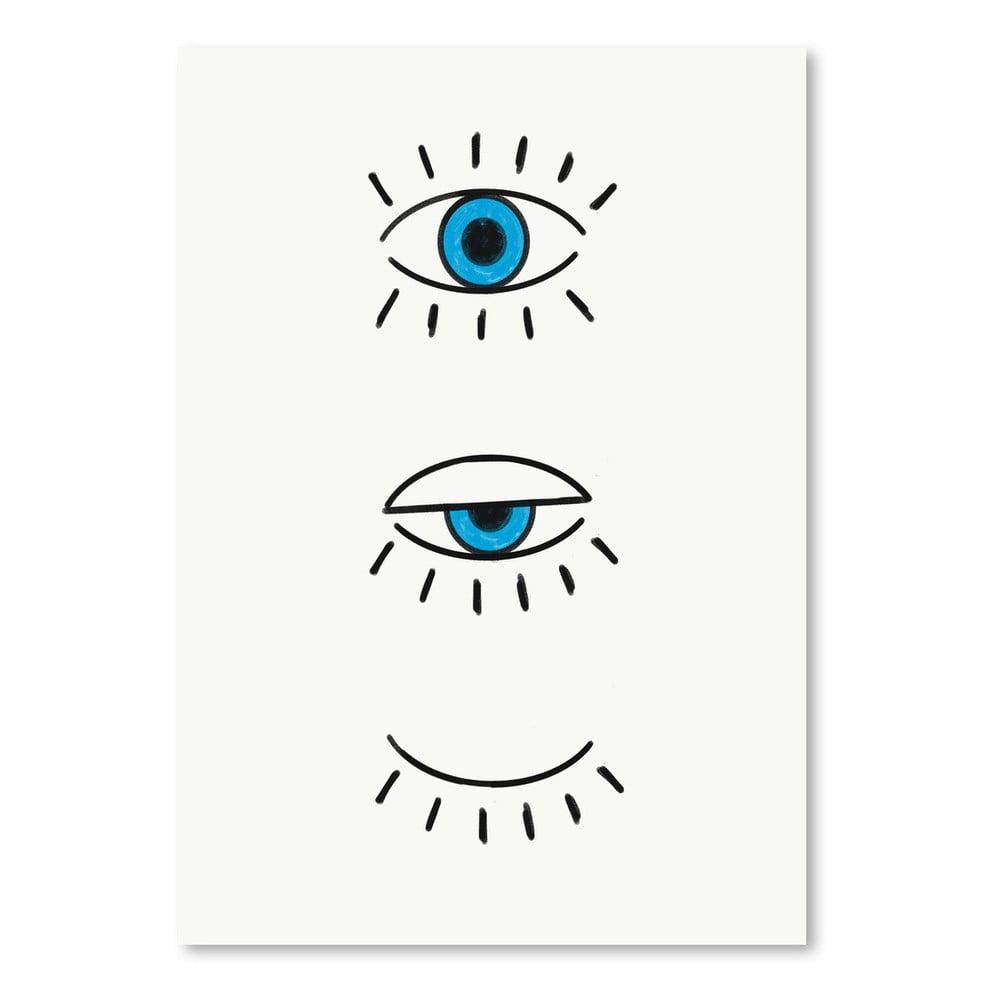 Plagát Americanflat Evil Eye, 30 × 42 cm