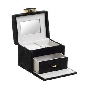 Dekoratívna čierna šperkovnica InArt Velvet