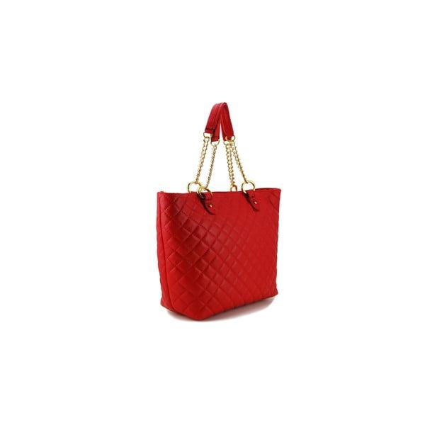 Kožená kabelka Vitello Rosso