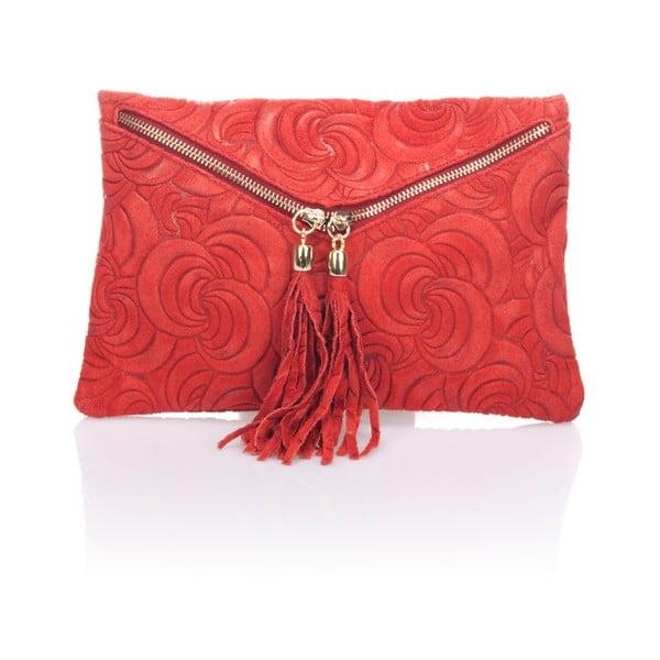 Kožená listová kabelka Flaire, červená
