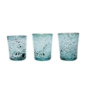 Set troch pohárov, modrá