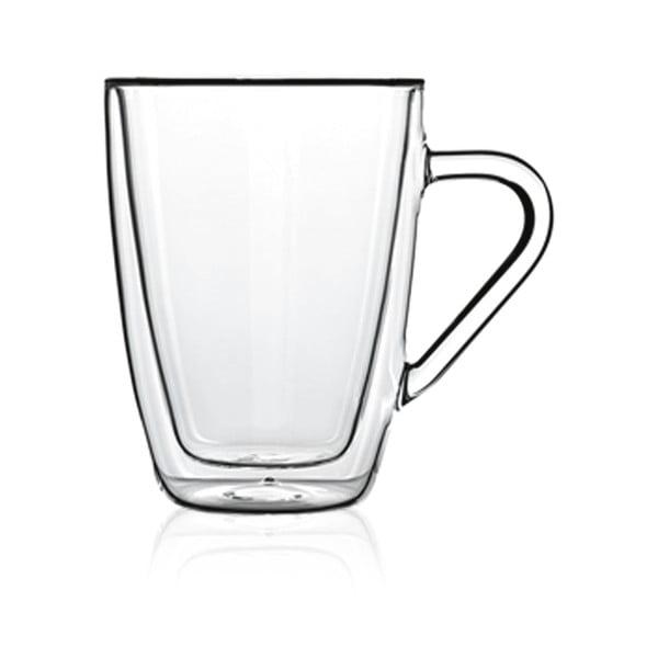 Sada 2 dvojstenných pohárov na čaj Bredemeijer, 320 ml