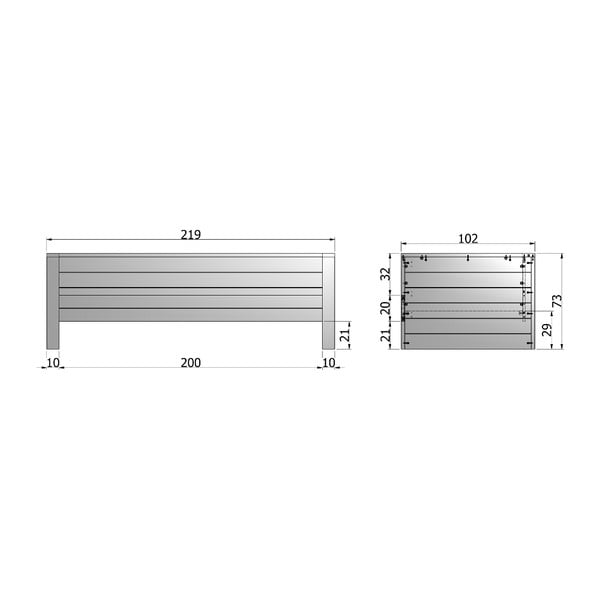 Oceľovosivá posteľ/sofa DeEekhoorn Dennis 90x200cm