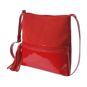 Kožená kabelka Boscollo Red 2183