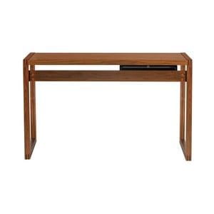 Pracovný stôl z orechového dreva Wermo Renfrew, 126×55cm