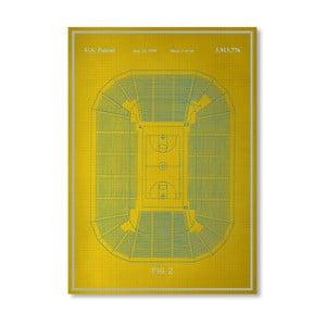 Plagát Basketball Court, 30x42 cm