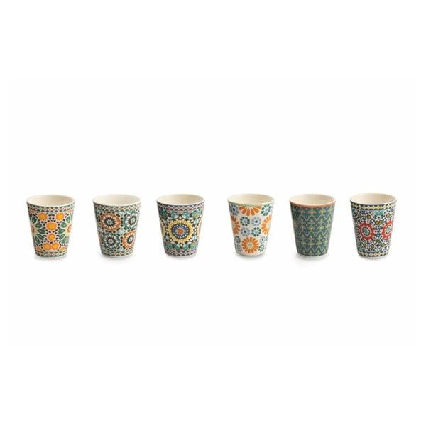 Sada 6 hrnčekov z kostného porcelánu na kávu Villa d'Este Bisanzio, 90 ml