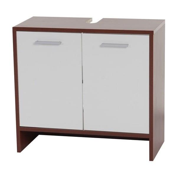 Kupeľňová skrinka Sonoma Brown/White, 28x60x56 cm
