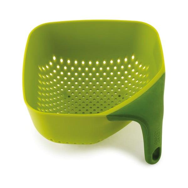 Zelené kubické cedidlo  Joseph Joseph Square Colander, 16x16cm