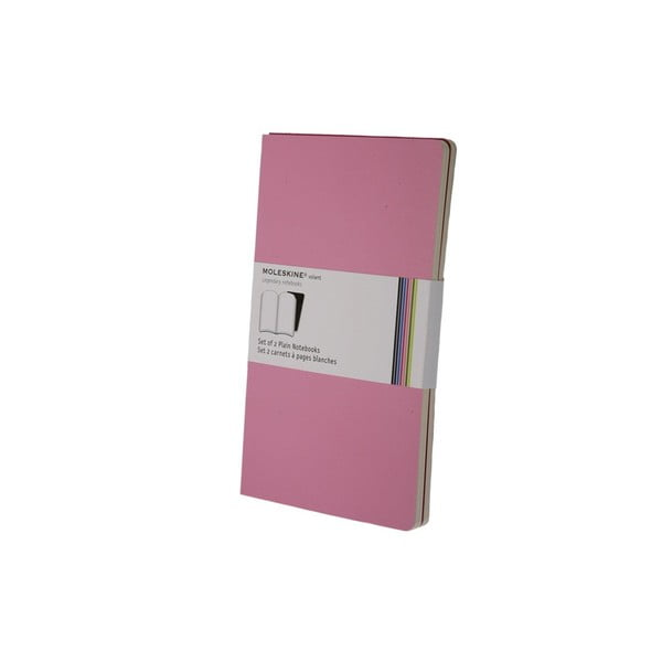 Sada 2 notesov Moleskine Pink, nelinkované 13x21 cm