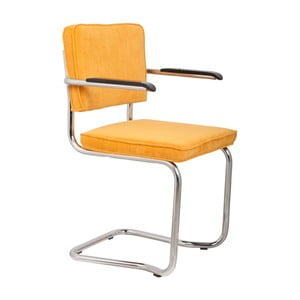 Sada 2 žltých stoličiek s opierkami Zuiver Ridge Kink Rib