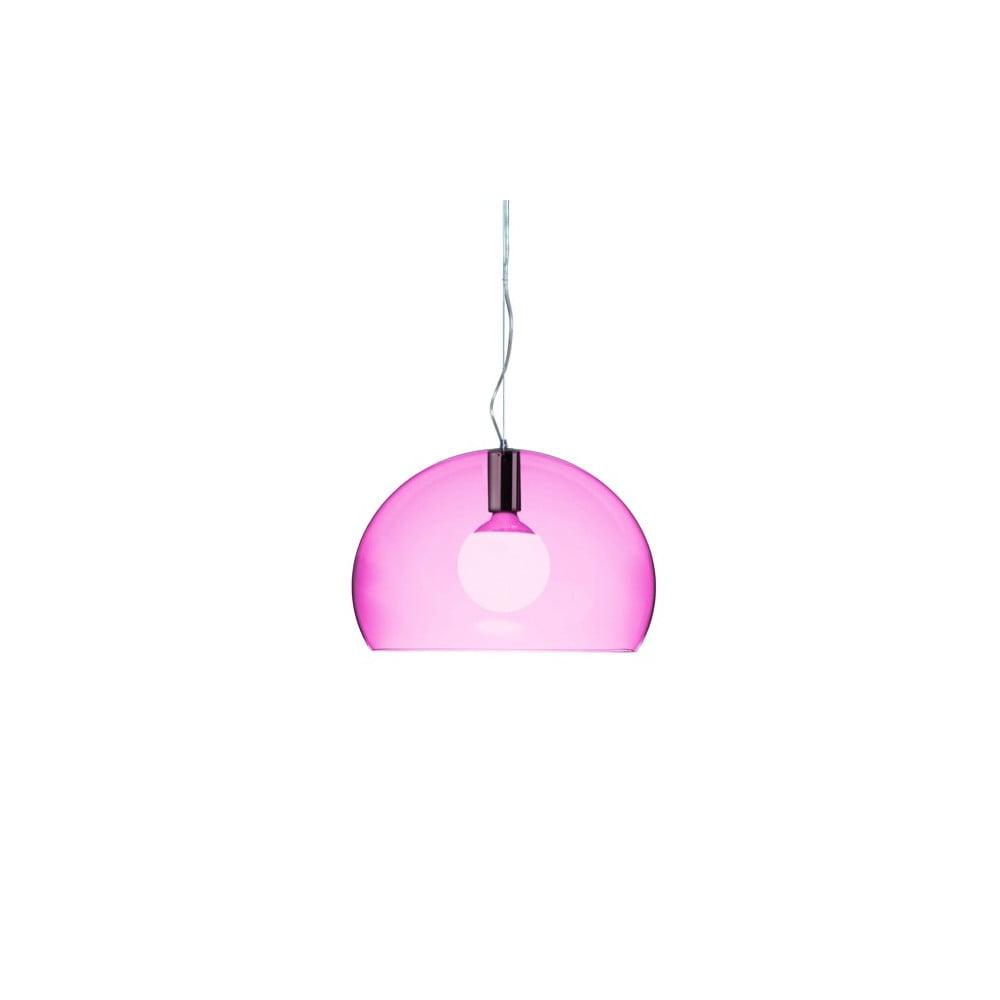 Menšie fialové stropné svietidlo Kartell Fly