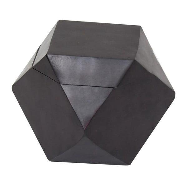Krabička Away Black, 13x13x13 cm