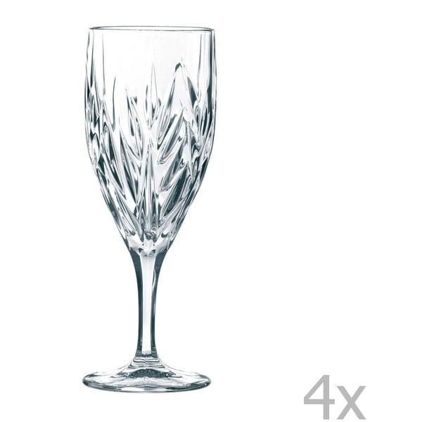 Sada 4 pohárov z krištáľového skla Nachtmann Imperial Iced, 340 ml