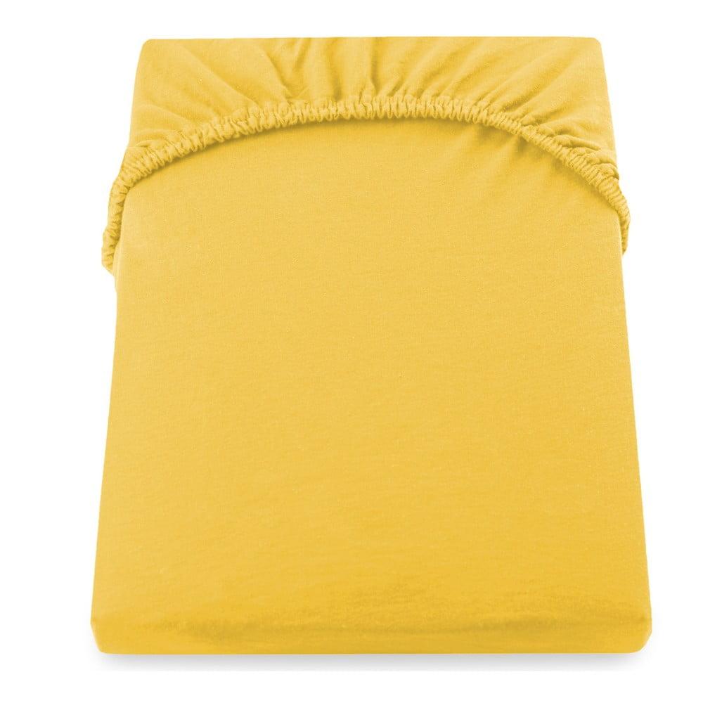 Žltá plachta DecoKing Amber Collection, 160-180 × 200 cm