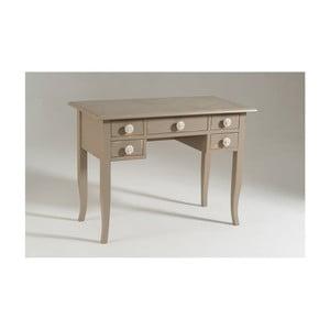 Béžový drevený pracovný stôl Castagnetti Dove