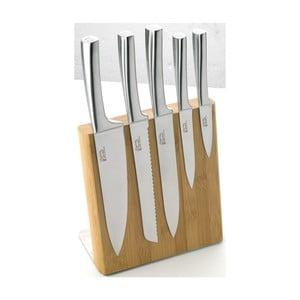 Sada 5 nožov s magnetickým blokom Jean Dubost Meteor Bamboo