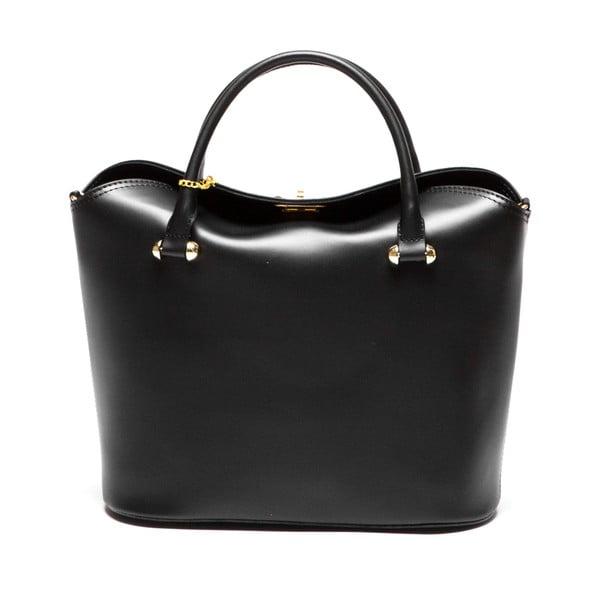 Čierna kožená kabelka Isabella Rhea no. 396