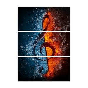 3-dielny obraz Horím hudbou