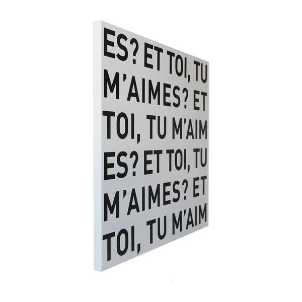 Magneticka tabuľa dESIGNoBJECT.it E Toi, 50 x 50 cm