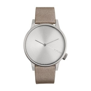 Pánske béžové hodinky s koženým remienkom Komono Deco