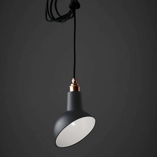 Závesné svetlo Miniature Angled Cloche Grey