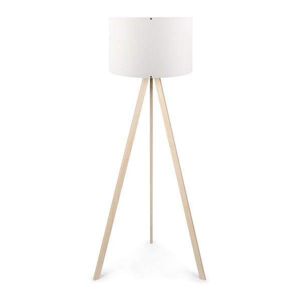 Biela stojacia lampa Aror
