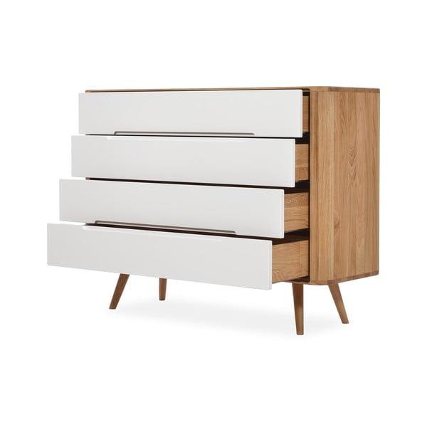 Komoda so zásuvkami z dubového dreva Gazzda Ena Two, 120 x 42 x 90 cm