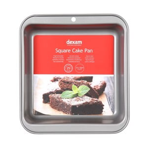 Forma na pečenie torty s nepriľnavým povrchom Dexam Square Cake, 23×23 cm