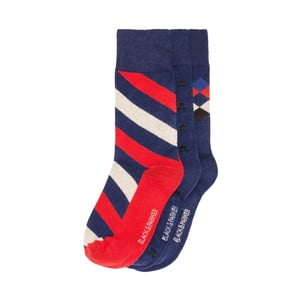Sada 3 párov vysokých unisex ponožiek Black&Parker London Oxley, veľkosť 37/43