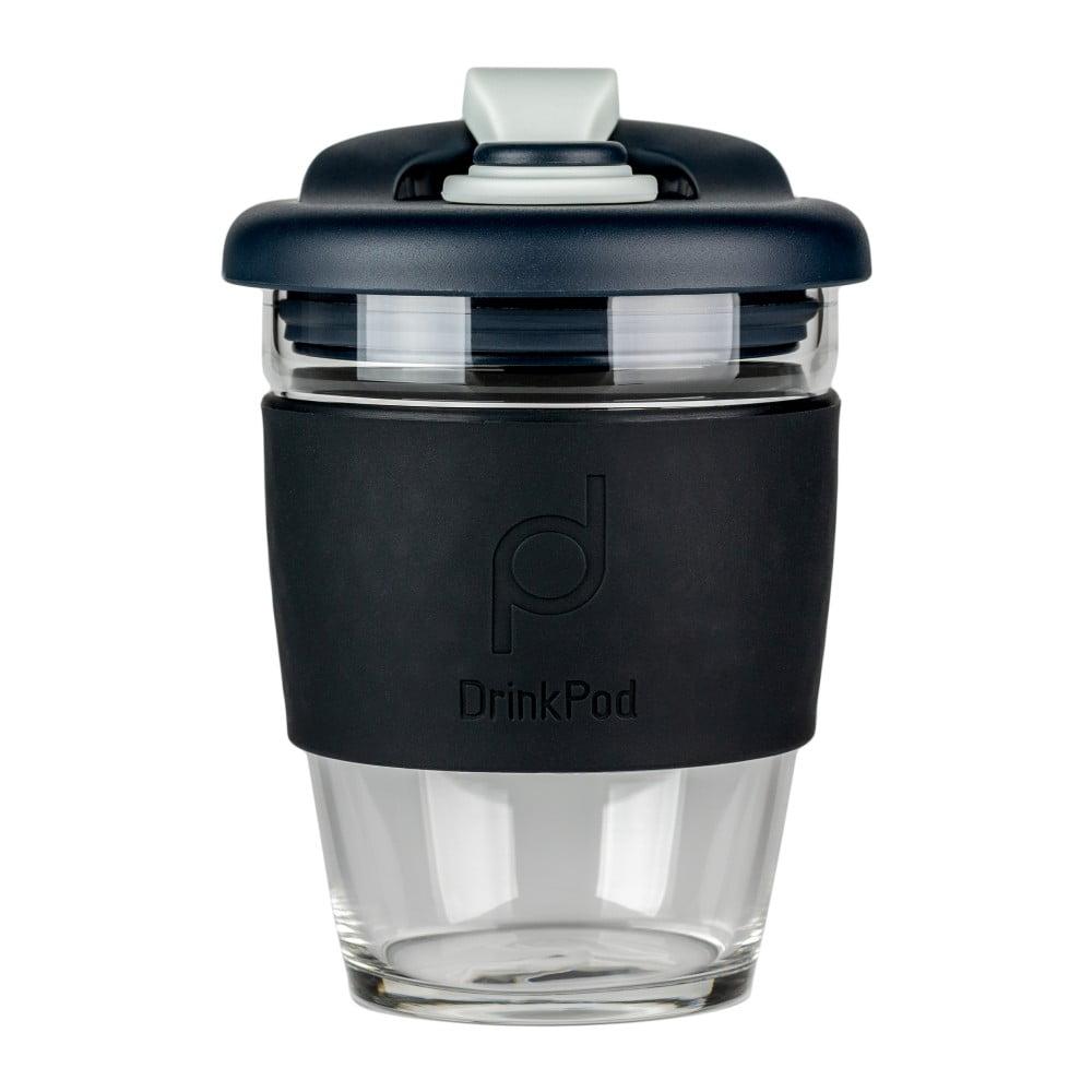 Čierny cestovný hrnček na kávu Drink Pod Coffee, 340 ml
