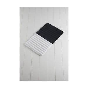 Čierno-biela kúpeľňová predložka Confetti Bathmats Soft Black, 60 x 100 cm