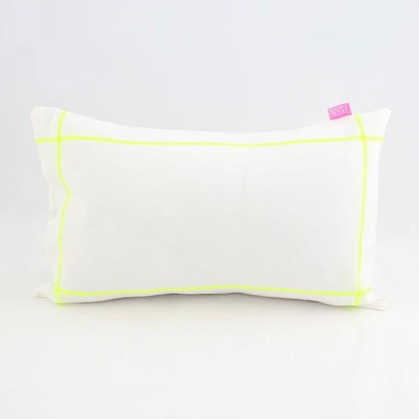 Obliečka na vankúš Basic Fluor yellow, 50 x 30 cm
