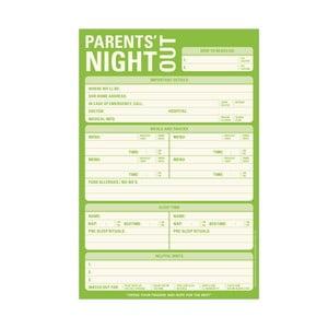Zápisník pre opatrovateľky detí Night Out