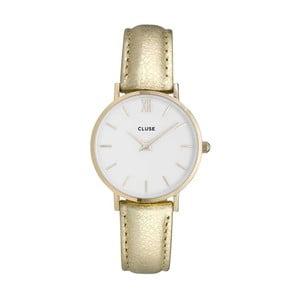 Dámske hodinky s metalicky zlatým remienkom Cluse Minuit Gold