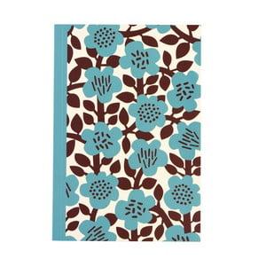 Zápisník s kvetinami vo formáte A5 linajkový Rex London, 60 strán