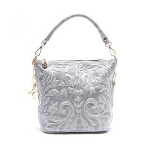 Kožená kabelka Amalia, sivá