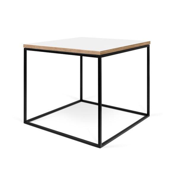 Biely konferenčný stolík s čiernymi nohami TemaHome Gleam, 50cm