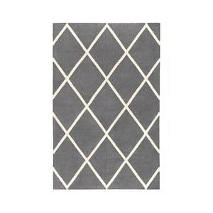 Sivý obojstranný koberec vhodný aj do exteriéru Green Decore Diamond Duro, 90 × 150 cm
