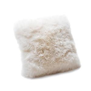 Biely vankúš z ovčej kožušiny Royal Dream Sheepskin, 45 x 45 cm