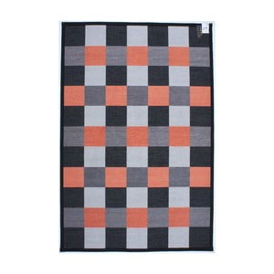 Koberec Square Black/Orange, 80x150 cm