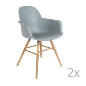 Sada 2 svetlosivých stoličiek s opierkami Zuiver Albert Kuip
