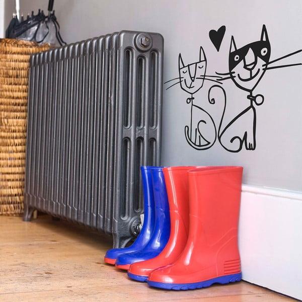 Samolepka Two Cats, 31x28 cm