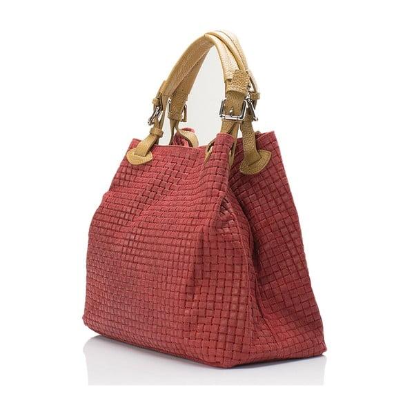 Kožená kabelka Italia 858,červená