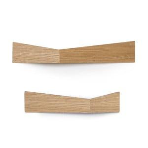 Sada 2 multifunkčných nástenných organizérov Woodendot Pelican Oak M+L