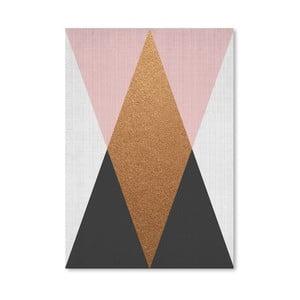 Plagát Geometric Pink Bronze