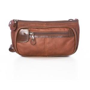 Hnedá kožená kabelka Gianni Conti Agacia