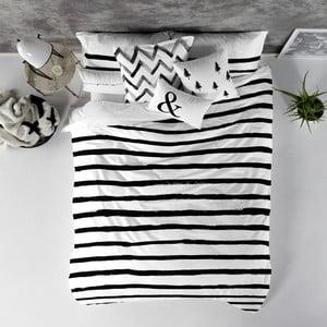 Balvnená obliečka na paplón Blanc Stripes, 240×220 cm